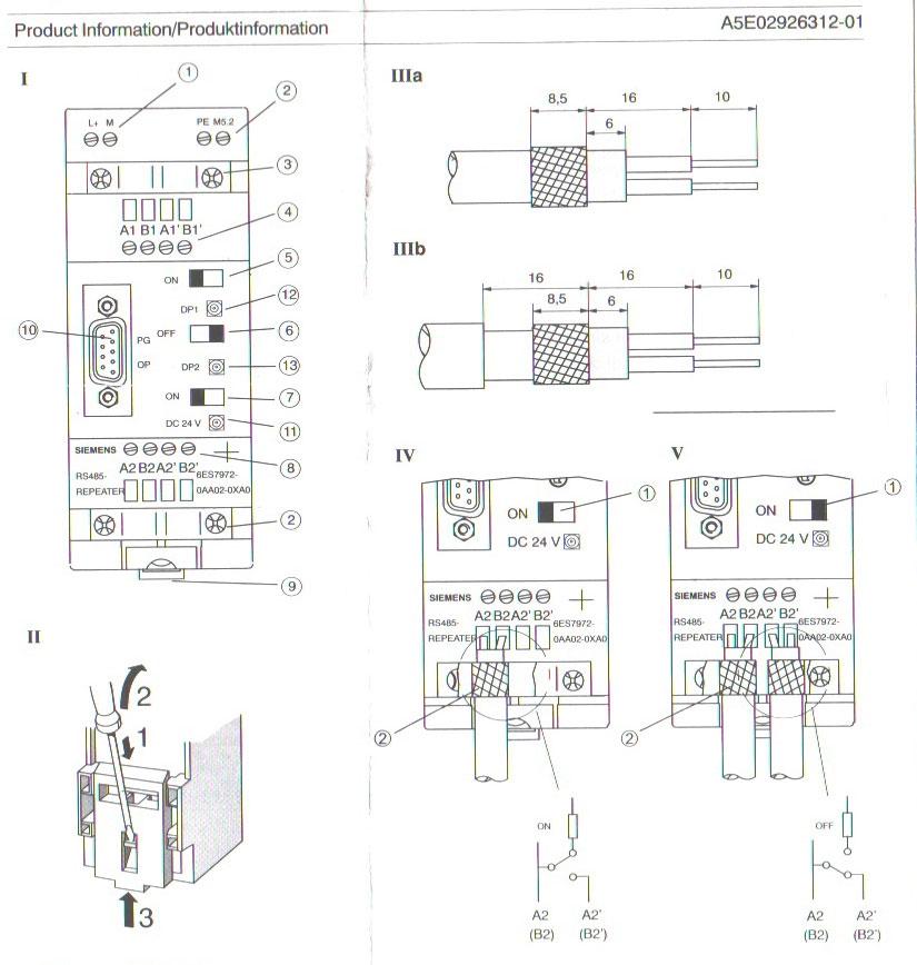 西门子RS485中继器说明书