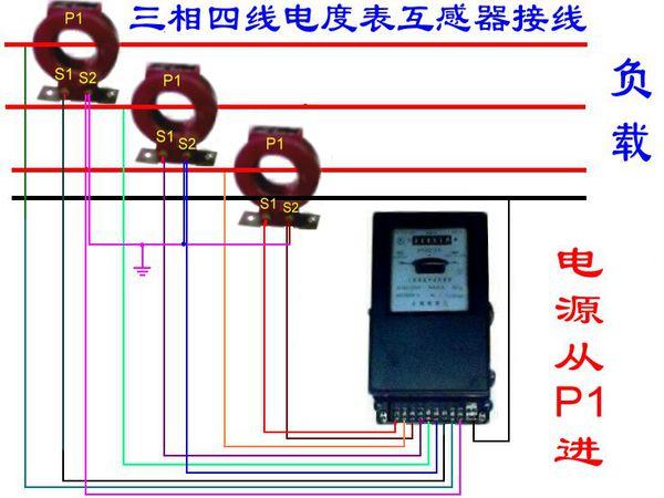 三相四线电表加互感器接线图